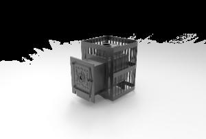Банная печь Чугунка 16 Сетка