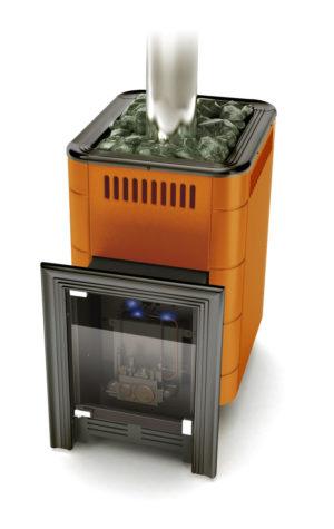 Газовая печь Уренгой-2 Inox БСЭ терракота